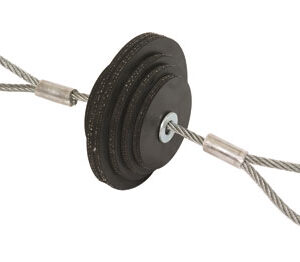 mandrel conduit. short rubber slug mandrel conduit